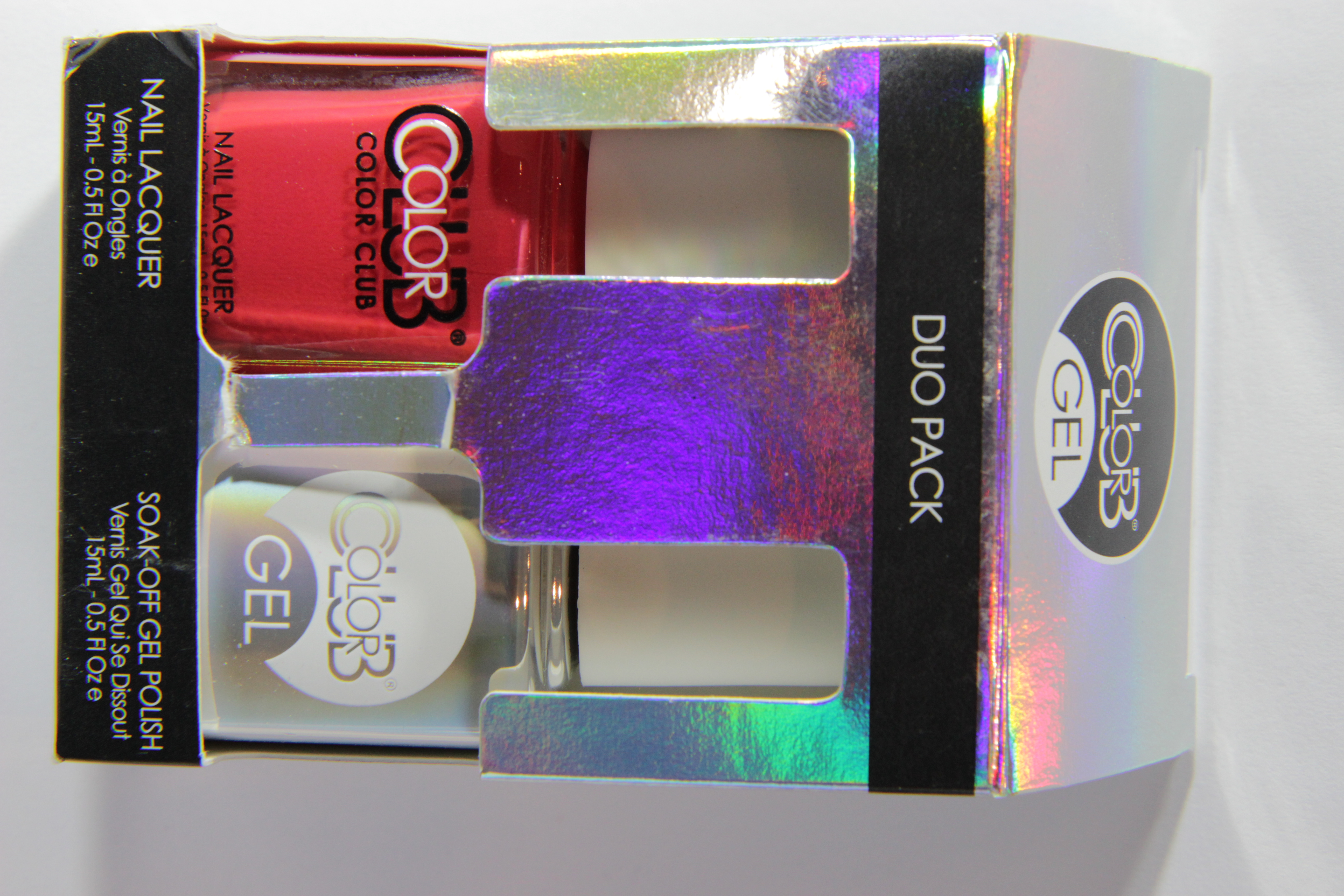 #0771 LOVE LINKS Color Club Duo Nagellack Nail Lacquer and Soak-Off Gel Polish rot red
