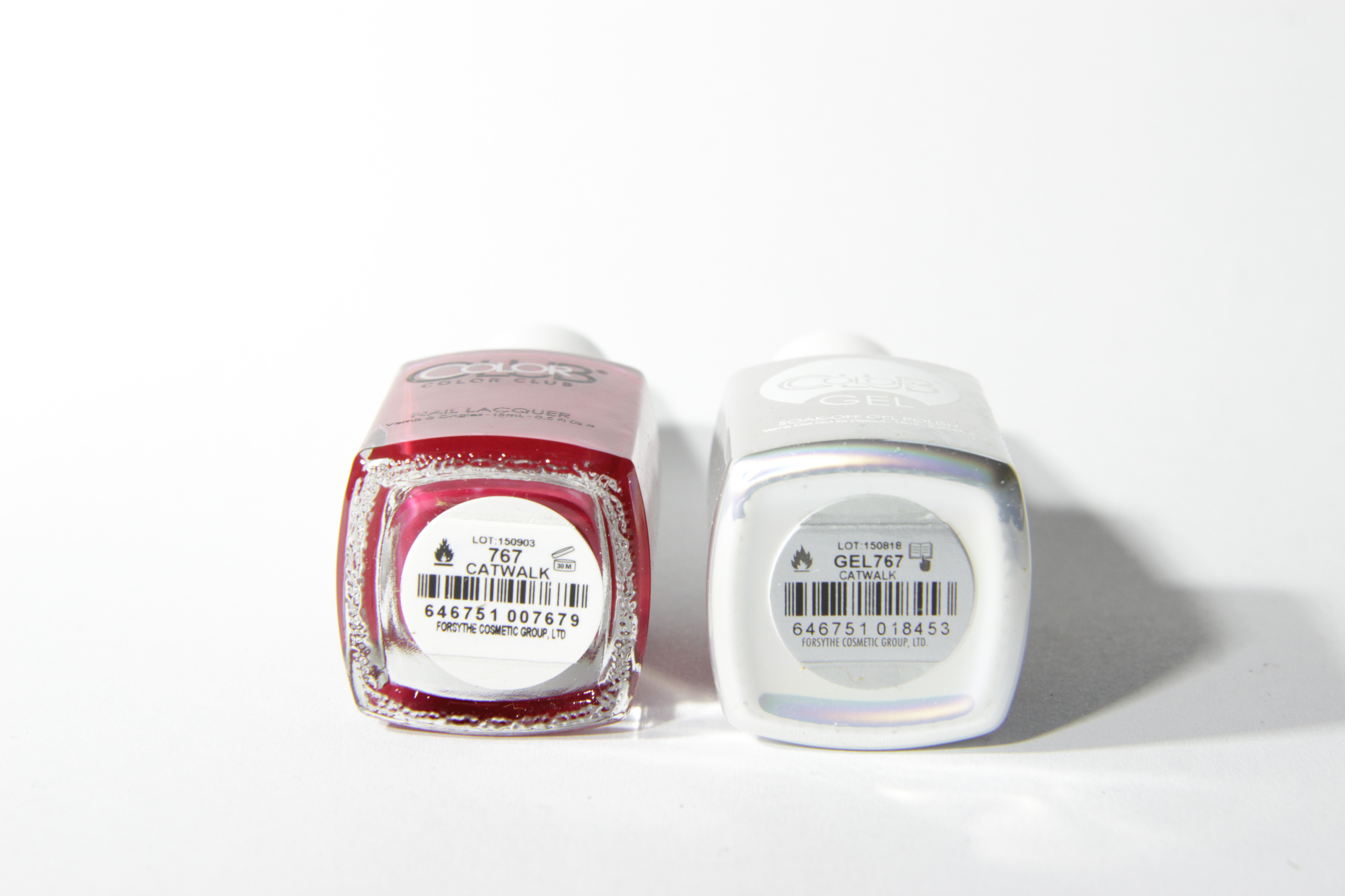 #0767 CATWALK Color Club Duo Nagellack Nail Lacquer and Soak-Off Gel Polish rot red