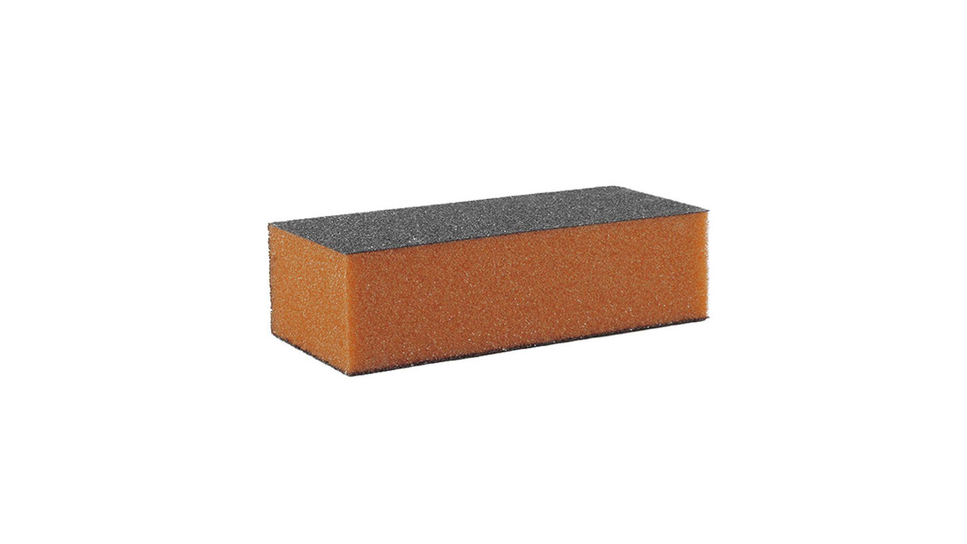 Buffer Schleifblock Premium 3 Seitig Körnung 100/100 schwarz orange