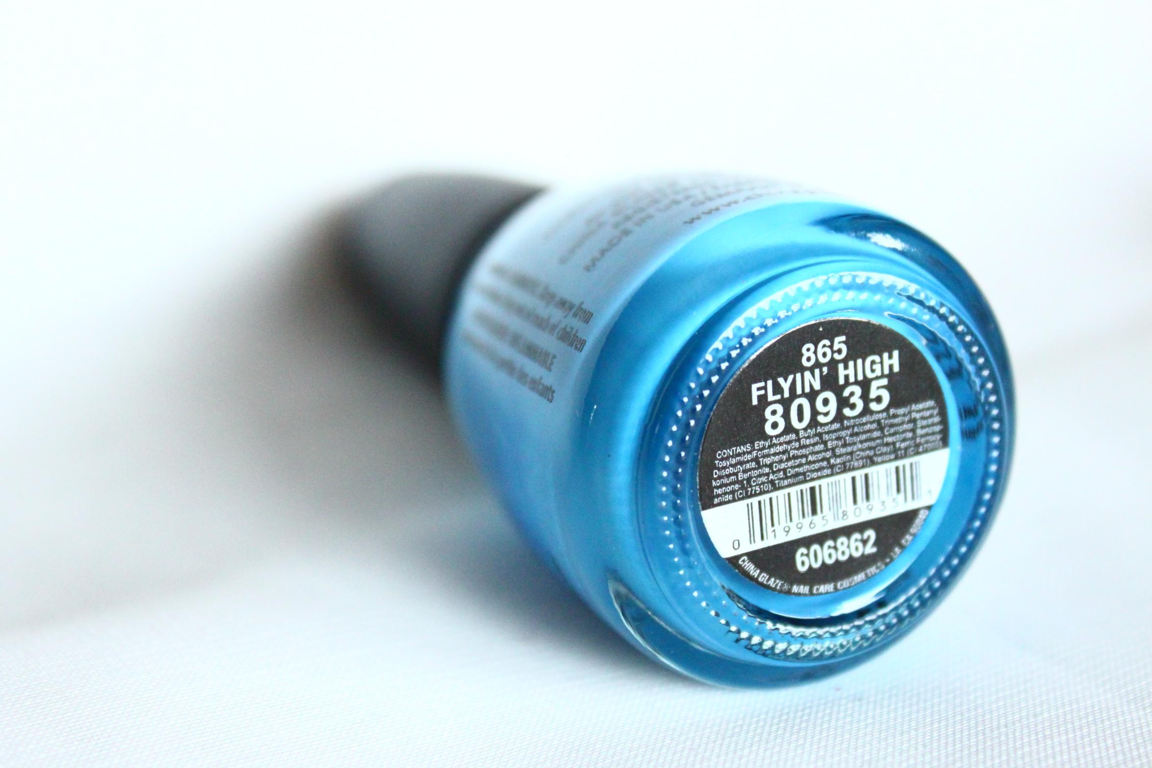 China Glaze Nagellack Nail Lacquer Polish 865 FLYING HIGH Blau blue