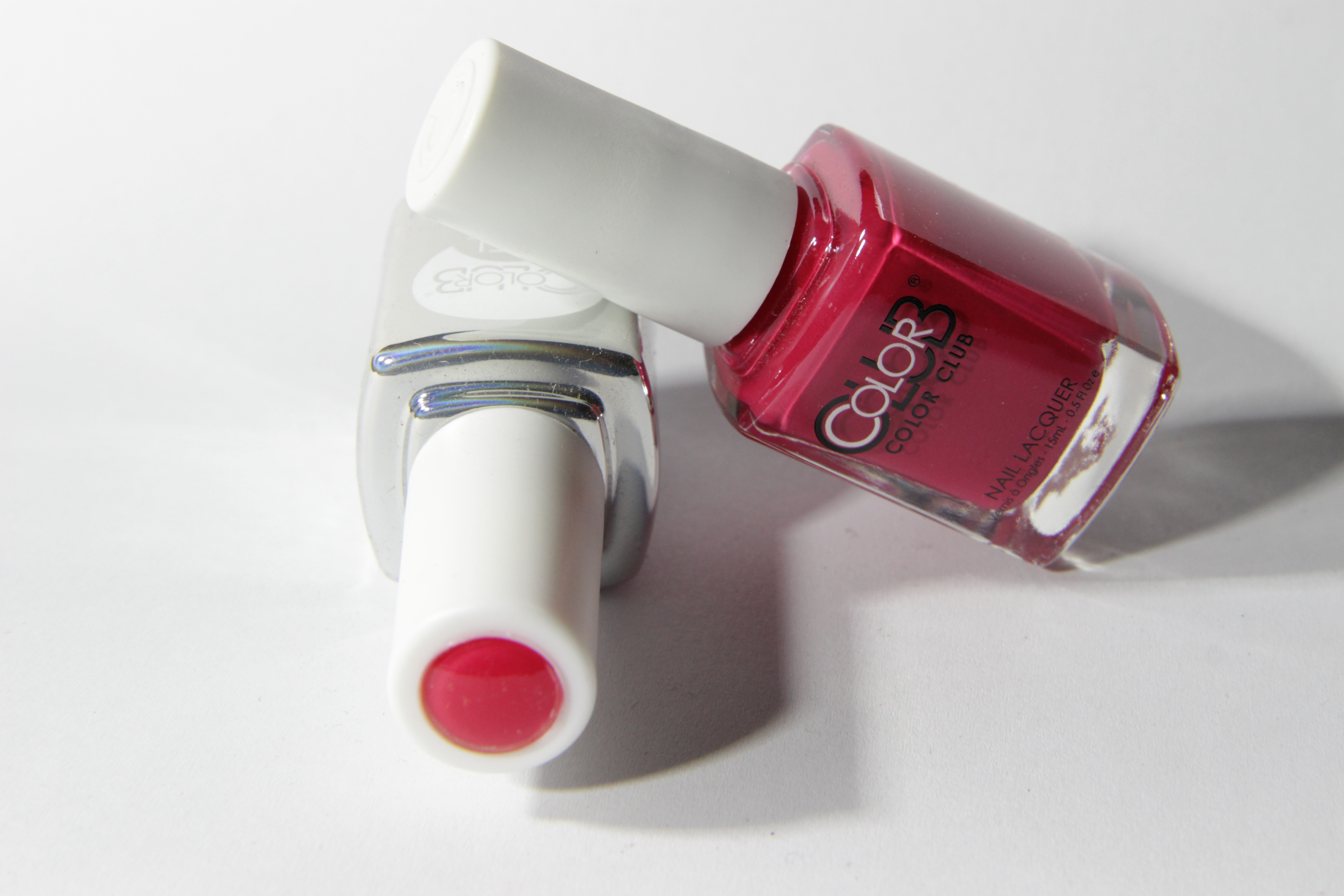 #0225 WATERMELON CANDY PINK Color Club Duo Nagellack Nail Lacquer and Soak-Off Gel Polish rot red