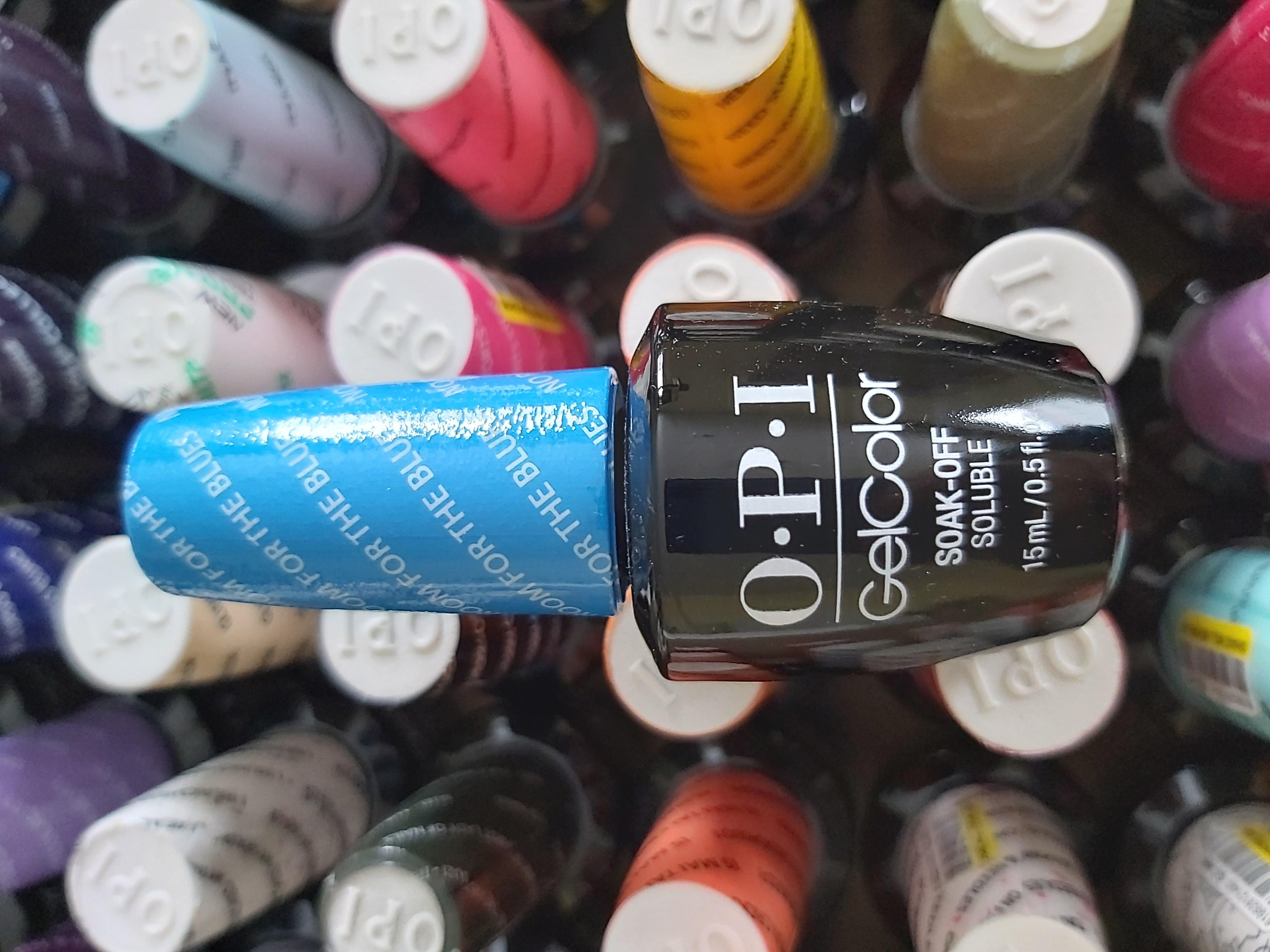 OPI Gel Color Soak-off Gel B83 NO ROOM FOR THE BLUES Blau