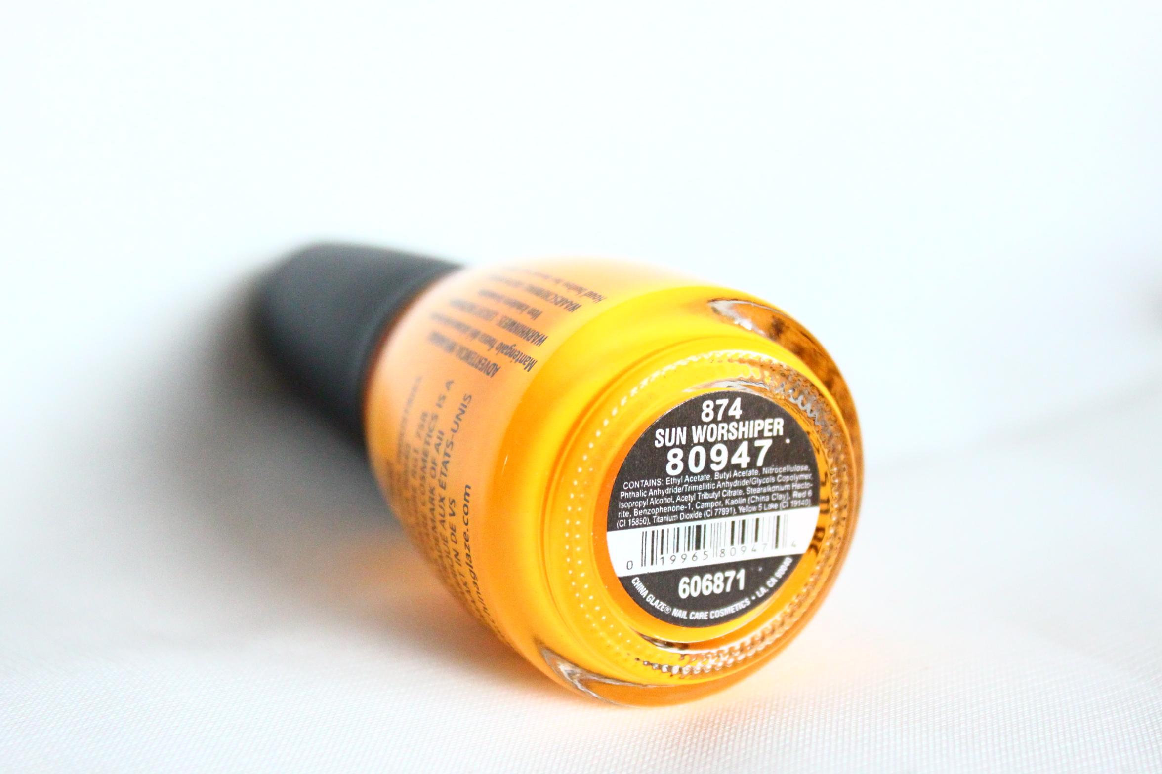 China Glaze Nagellack Nail Lacquer Polish 874 Sun Worshiper Gelb yellow