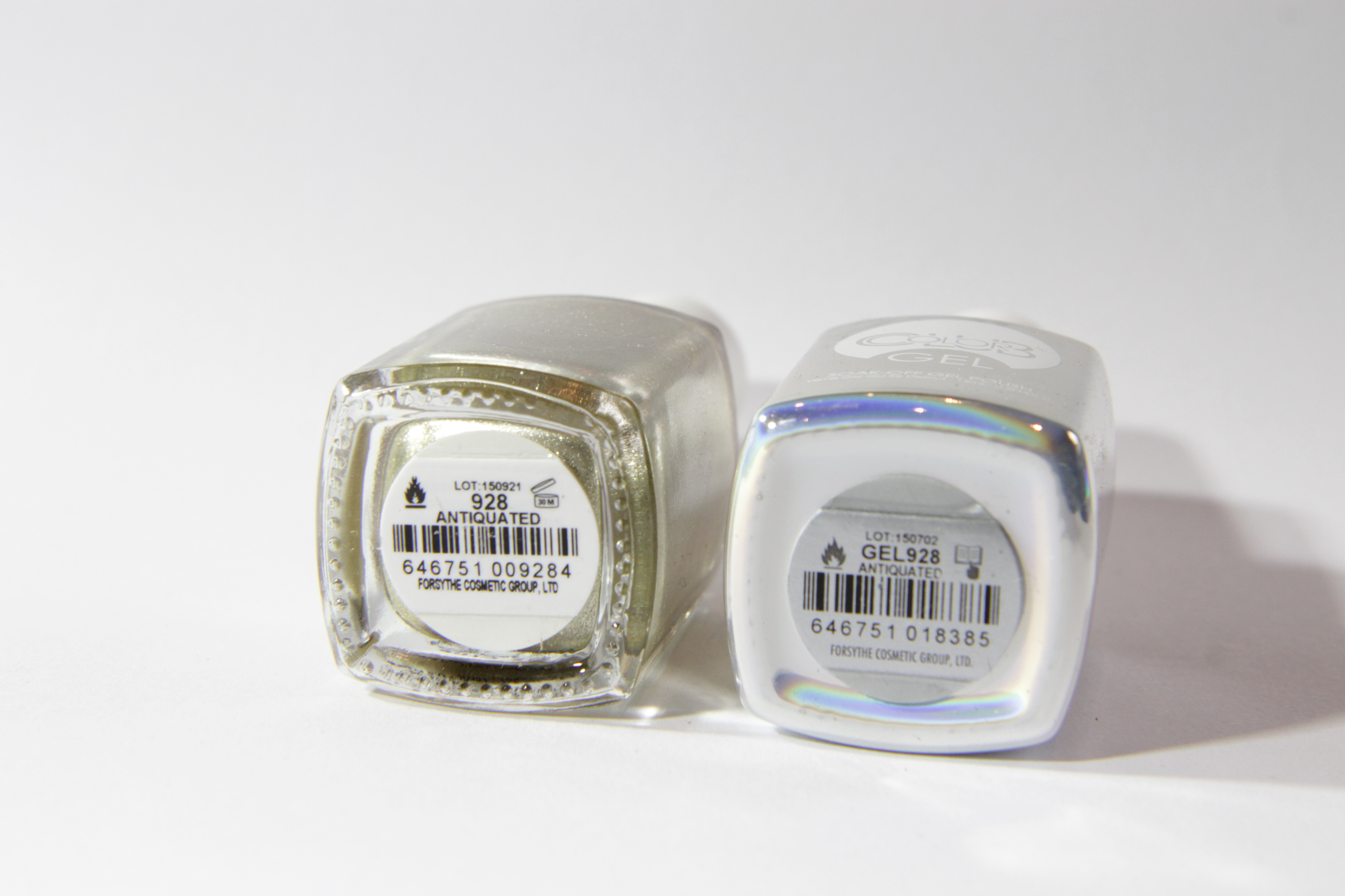 #0928 ANTIQUATED Color Club Duo Nagellack Nail Lacquer and Soak-Off Gel Polish fein gold metallisch