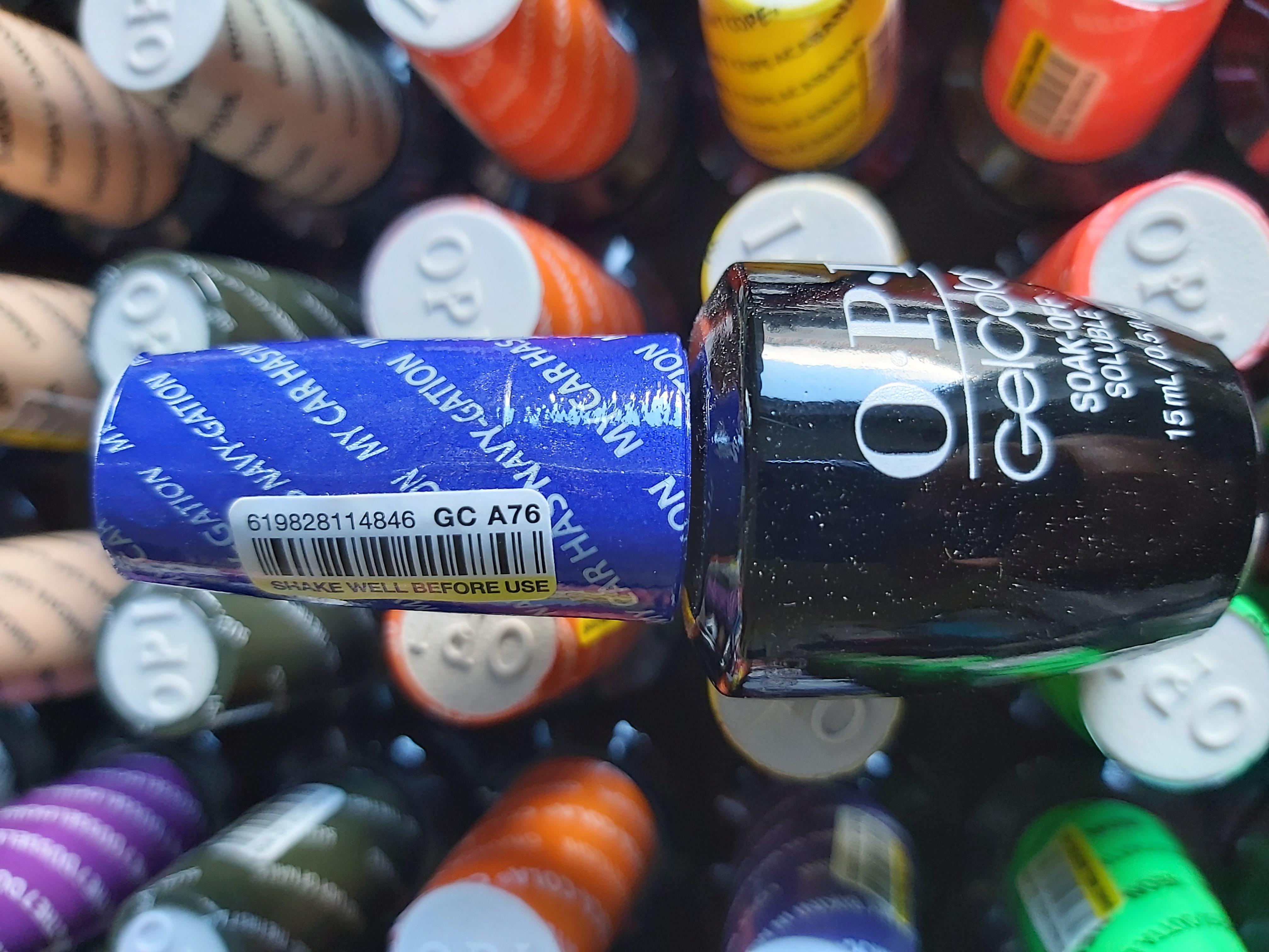 OPI Gel Color Soak-off Gel A76 My car has Navi-gation Blau Blue